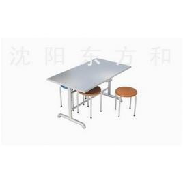 挂凳式四人快餐桌椅